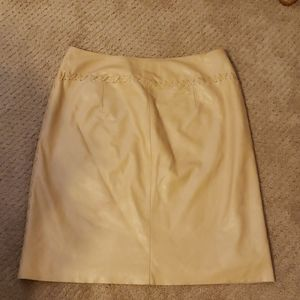 Express authentic leather skirt
